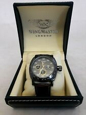 Wingmaster London - Watch - Large Brown Leather Strap - Original Box - WM.0020B