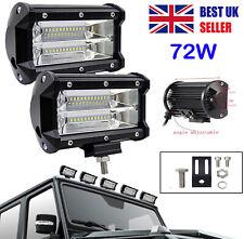 2X 72W LED Work Light Bar Flood Spot Light 12V 24V Off Road Car Truck SUV Lamp