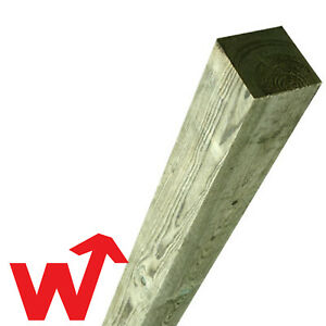 TImber Fence Posts | Green Treated Timber |  Gate Post | 4x4 | 8ft | 100mm Wood