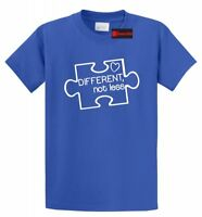 Different Not Less Autism Awareness T Shirt Puzzle Autistic Event Tee S-5XL