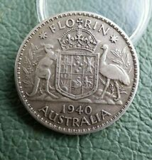 Australia Silver Florin  coin  1940  2/- Freepost UK