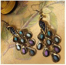 NiX 1385 Peacock Earrings Vintage Drop Earring Dangler Earring Women Gift Girl