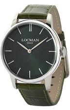 orologio LOCMAN 1960 DOLCE VITA watch 0251V03-00GRNKPG QUARZO UOMO PELLE VERDE