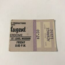Ted Nugent Checkerdome St Louis Missouri Concert Ticket Stub Rare Vtg 1970s