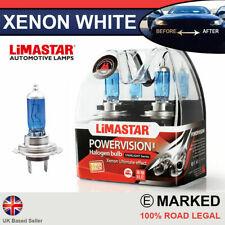 Fiat Xenon White H7 55w Halogen Dipped Headlight Bulbs 6000k (PAIR)