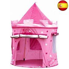 Kiddus Tienda casa casita Carpa campaña para niñas de Tela Lona Rose (Rose)