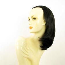 DT Half wig HairPiece extensions black 15.7  REF :21/1b