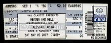 HEAVEN AND HELL-Rare Original 2007 Concert Ticket-BLACK SABBATH-RONNIE JAMES DIO
