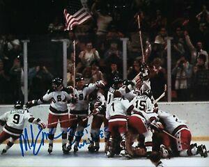 GFA 1980 Miracle on Ice Captain MIKE ERUZIONE Signed 8x10 Photo M7 COA