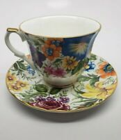 Vintage Fine Bone China, made in England, Floral Tea Cup & Saucer