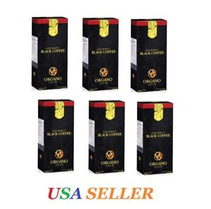 6 Boxes ORGANO GOLD GOURMET BLACK COFFEE - BIG SALE- Expired on  07/2022