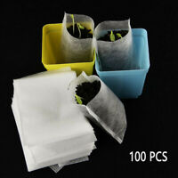 100pcs Seedlings Lift Bags Nursery Pot Flowers Seed Pouch Potted Plant Grow Pots