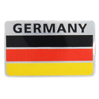 Car Truck 3D Aluminum Germany Flag Emblem Badge Decals Sticker Black+Red+Ye S5G8