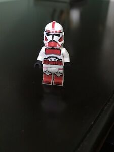 Lego Star Wars Shock Trooper/ Courascant Guard Clone minifigure (real helmet)