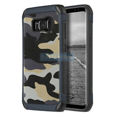 SAMSUNG GALAXY S8+ PLUS G955 GREY CAMOUFLAGE IMPACT SHIELD RUGGED CASE COVER