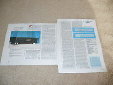 Pioneer PD-91 Reference CD Review, 1988, 2 pg, Specs