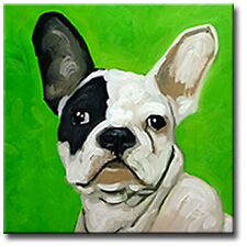 POP Art Dog Painting French Bulldog Canvas Giclee Print