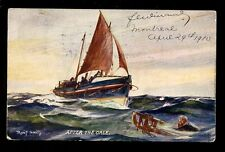 LIFE BOAT SERVICE After the Gale Oilette The Lifeboat at Work series 1910 PPC
