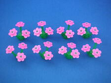 Lego 24 fleurs roses 8 tiges Neuves New Dark Pink flowers + Stems REF 3741 3742