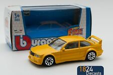 BMW M3 GT Cup Yellow, Bburago 18-30157, scale 1:43, toy car model boy gift
