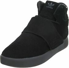 Adidas Tubular Invader Men's Black Suede Lace up Fashion Sneakers Shoes US 10