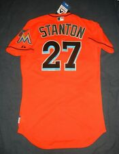 AUTHENTIC Majestic GIANCARLO STANTON Miami Marlins Florida Jersey 40 M Yankees