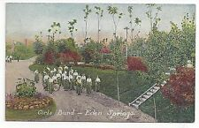 VINTAGE EDEN SPRINGS, MI HOUSE OF DAVID - GIRL'S BAND PICTURE POSTCARD