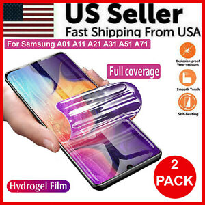 2-Pack HYDROGEL Full Screen Protector For Samsung Galaxy A01 A11 A21 A31 A51 A71