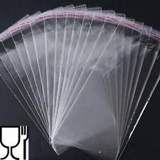 100 Sacchetti Bustina trasparenti per alimenti mascherine dolci 10X20 + 3 CM