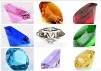 80mm/3'' Home Office Decor Wedding Decoration Glass Diamond Shaped Paperweight
