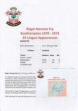 ROGER FRY SOUTHAMPTON 1970-1972 ORIGINAL MAIN SIGNÉ COUPE/CARTE