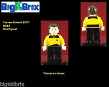 DATA Star Trek Custom LEGO Minifigure NO DECALS USED!