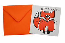 NEW BIRTHDAY CARD: Rusty red 'FOX', Orange envelope!