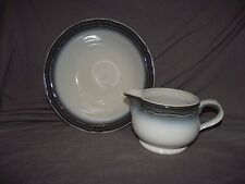 "Noritake Captivate Gravy Boat and 9"" Round Vegetable Bowl"