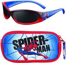 SPIDER-MAN AVENGERS Boys 100% UV Shatter Resistant Sunglasses & Soft Case Set
