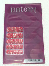 Jamberry H314 Joyful Celebration Sealed Sheet of Retired Nail Wraps Red Glitter