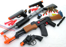 5x Toy Guns Pump-Action Shotgun AK-47 Rifle Colt 45 Dart Pistol Revolver Cap Gun