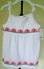 NWT Toddler Girls CARTER'S 4T Dress/Top White Floral Embroidery Shoulder Straps