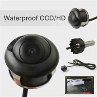 360° HD CCD Night Car Rear View Reverse Backup Parking Camera Watertight Lens UK