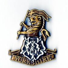 YORKSHIRE REGIMENT Bronzed & White Metal lapel badge (#230)
