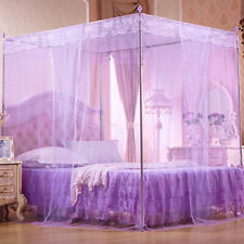 Lace Curtain Bed Canopy Netting Princess Mosquito Net for Twin Full Queen Bed Us