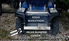ezgo Marathon Golf Cart Polished Aluminum Diamond Plate Rear Bumper Cover