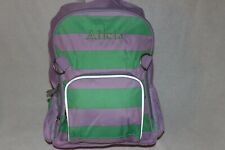 "PotteryBarn Girls Green Lavender Stripe Large Backpack FREE Pencil Case ""Alicia"""