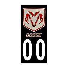 2X Stickers Plaques Auto Fond Noir Dodge 2
