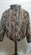 Remington Real Tree Camo Hunting Jacket Zip Off Sleeves Mens X-Large
