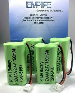 New! Battery BT184342 BT284342 for AT&T Vtech GE RCA and Clarity Phones (4 Pack)