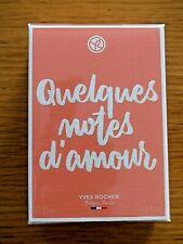 * YVES ROCHER * Quelques Notes d'Amour * L'Eau de parfum * NEUF sous cellophane