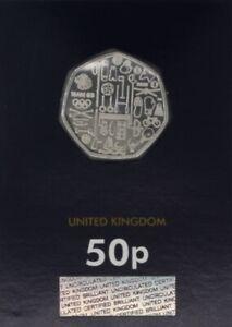 UK British Royal Mint Commemorative Brilliant Uncirculated 50p coins
