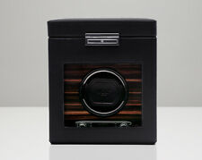 Wolf ROADSTER Single Watch Winder Box with Cover and Storage 457156