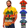 Mens Hawaiian Shirt Stag Beach Hawaiian Print Party Summer Holiday Fancy Blouse